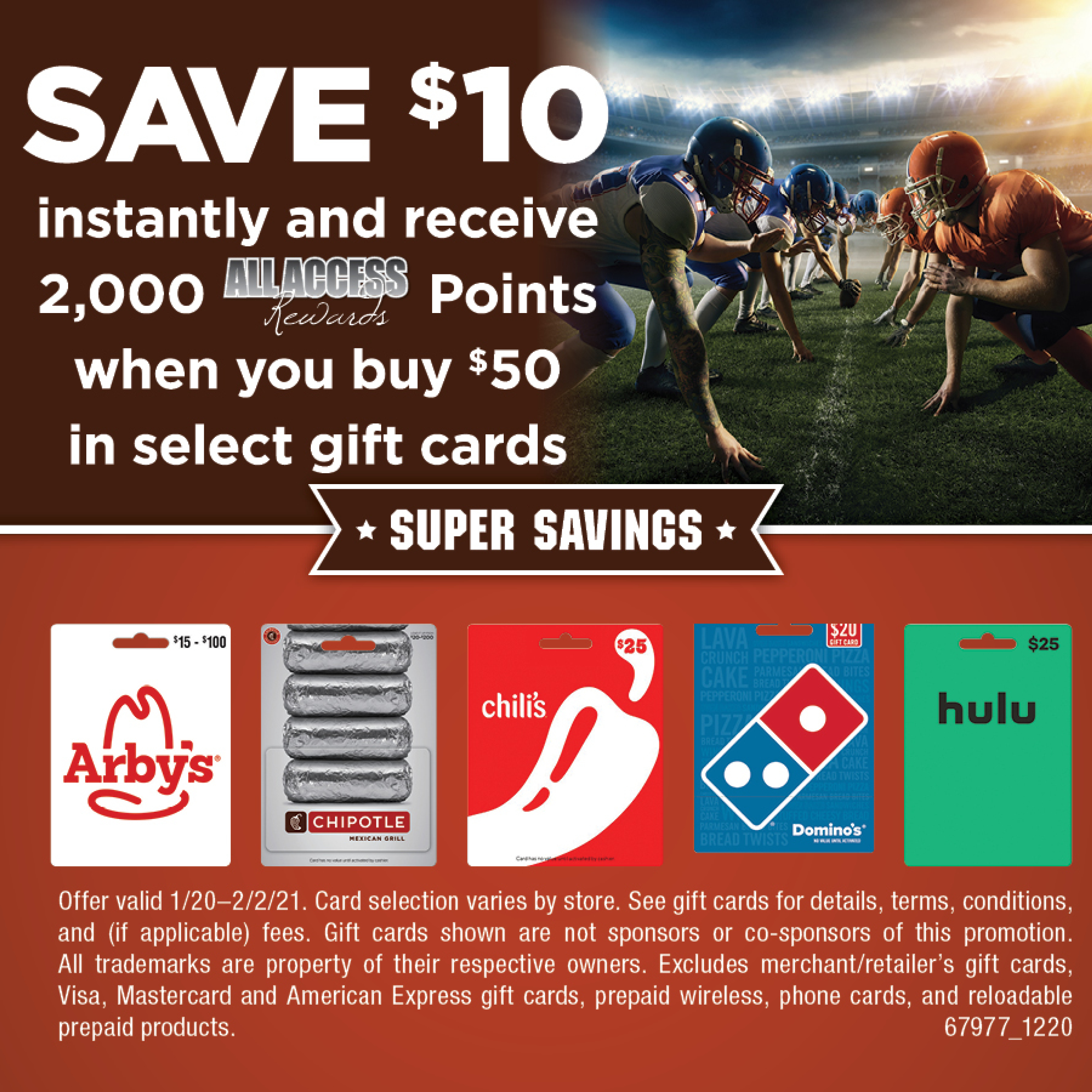 SAVE $10 INSTANTLY AND RECEIVE 2000 AAR POINTS