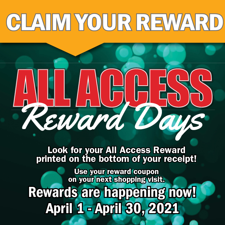 ALL ACCESS REWARDS DAYS 04.01-04.30